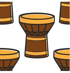 Tom tom drum turkish national instrument seamless vector