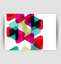 triangle business annual report cover print vector image