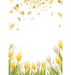 Tulip spring flowers vector image