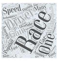 What is F Racing Word Cloud Concept vector image