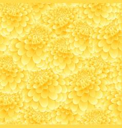 yellow dahlia seamless background vector image