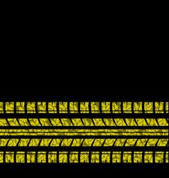 Yellow flower tire tracks vector