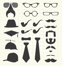 Hats and other fashion elements vector