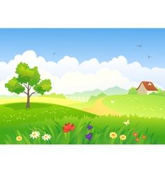 Rural scene vector image vector image