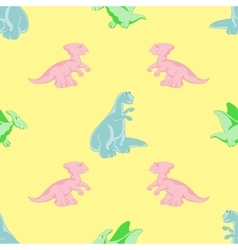 Seamless background Colored dinosaurs vector image vector image
