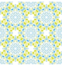 Seamless mandala pattern in moroccan arabic style vector image