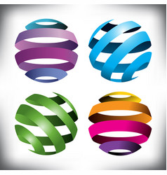 spheres globes vector image vector image