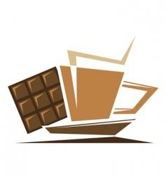 tea or coffee symbol vector image vector image