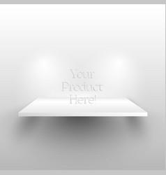 white shelf on wall vector image