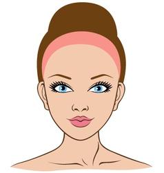 Woman face closeup vector