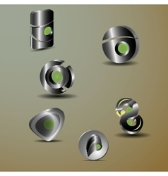 3d metall vector image