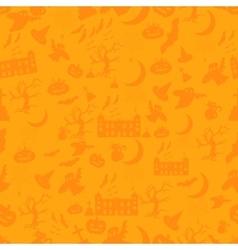 Halloween pattern Easy change colors vector image