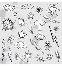hand drawn graffiti vector image vector image