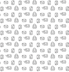 Mail pattern seamless vector image vector image