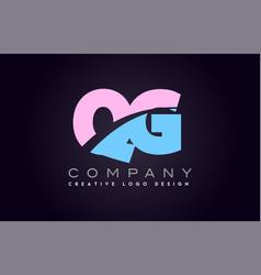 qg alphabet letter join joined letter logo design vector image