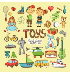 set of cartoon toys vector image vector image