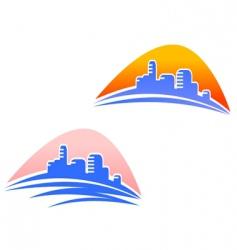 cityscape symbols vector image vector image