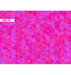 Geometric pink background with place for your text vector image