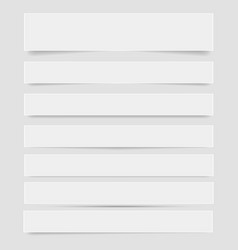 white frame banners with shadows on the gray vector image
