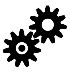 black gears icon on white background eps vector image vector image