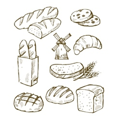 Bread icons vector