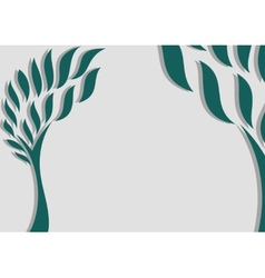 Decorative trees background vector image vector image
