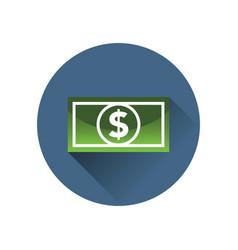 dollar bill icon in a circle vector image vector image