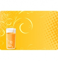 halftone banner with juice glass vector image vector image