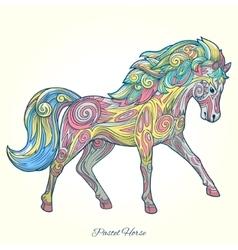 Horse hand drawn ornament vector