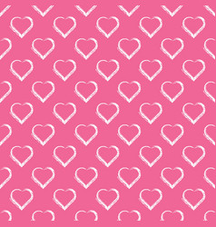 love hearts valentin s day seamless pattern vector image