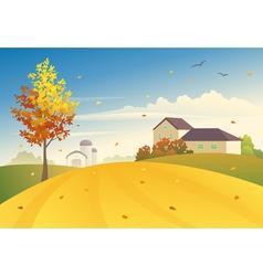 Rural fall vector image