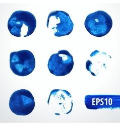 Watercolor Blots Set 2 vector image