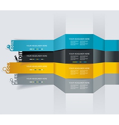 web design template - horizontal lines in vector image