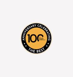 100 years anniversary celebrating best vector