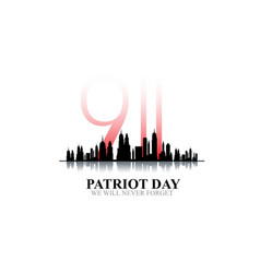 11 september-patriot day usawe will never forget vector