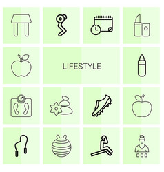 14 lifestyle icons vector