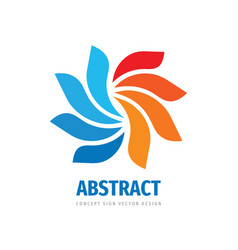 abstract colored petals logo design colorful vector image