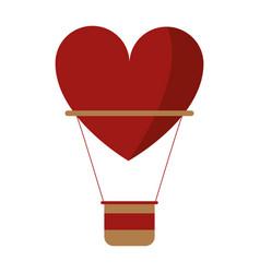 Airballon heart love romantic classic vector