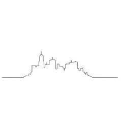 artistic drawing of generic city high rise vector image