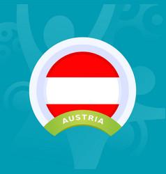 Austria flag european football 2020 tournament vector