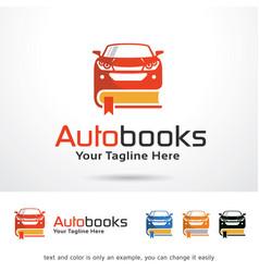 Automotive book logo template vector