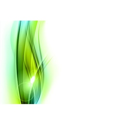 background green wave vhite vertical vector image