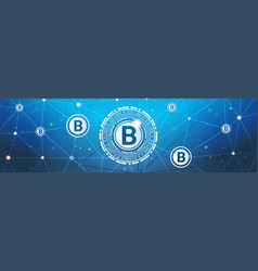 bitcoins money crypto currency concept modern web vector image