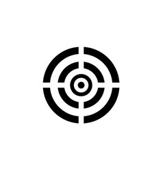 black target icon vector image