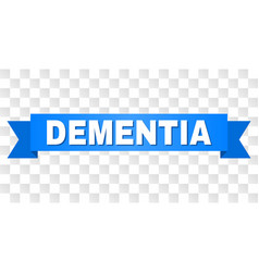 blue tape with dementia caption vector image