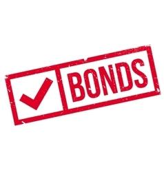 Bonds rubber stamp vector