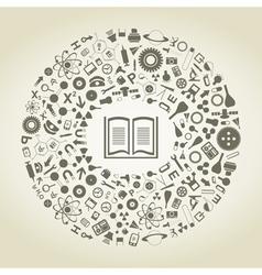 Book of sciences vector image