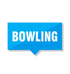 Bowling price tag vector