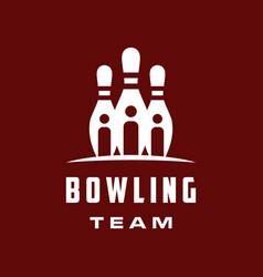 bowling team logo vector image