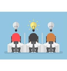 Businessman get new idea vector image